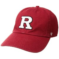 NCAA Rutgers Scarlet Knights Clean Up Adjustable Hat、1サイズ、レッド