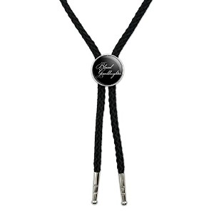 Blessed Granddaughter onブラックWestern SouthwestカウボーイネクタイBow Bolo Tie
