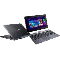 中古 2in1 ノートPC ASUS TransBook T100TA-GRAY-S Atom Z3775 1.46GHz 2GB 500GB SSD32GB Win8 Bluetooth カメラ...