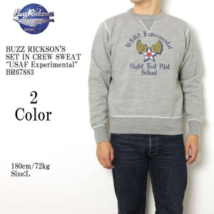 "BUZZ RICKSON'S バズリクソンズ SET IN CREW SWEAT ""USAF Experimental"" BR67883"