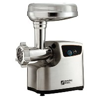 Magic Mill heavy Duty Electric Meat Grinder and Tomato juicer, 3 Grinding Blades, 3 size sausage...