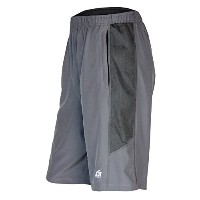 Mens Athletic Shorts with zipper pockets for Running、バスケットボール、ジムby x31スポーツ L グレー