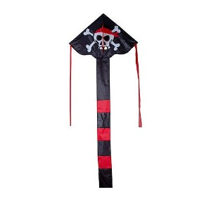 """Kite–Pirate Easy Flyer–( 33"""" x 21"""" ) with 300Ft 30lbテストKite文字列and Winder"""