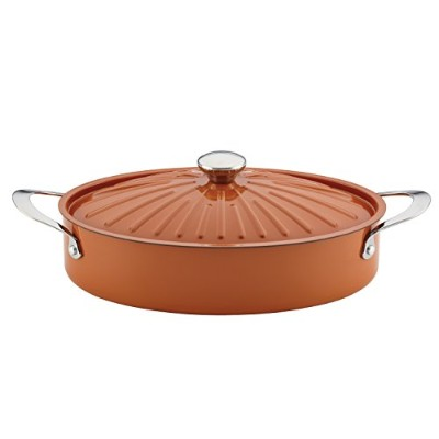 (4.7l, Oval, Pumpkin Orange) - Rachael Ray Cucina Oven-To-Table Hard Enamel Nonstick 4.7l Covered...