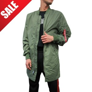 ◆◆3,000円OFFセール◆◆【U.S.A企画 正規品】 ALPHA INDUSTRIES【アルファ インダストリーズ】【L-2B LONG FLIGHT JACKET】【SAGE GREEN...