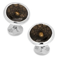 Ox and Bull Trading CoメンズGeo Floral Concave Disc Cufflinks