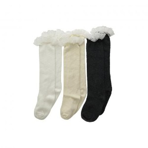 レース ブーツ ニー ハイ パック Jefferies Socks Lace Boot Knee High 3 Pack (Toddler/Youth)