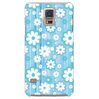 【送料無料】 フラワーライン (ブルー) produced by COLOR STAGE / for GALAXY S5 SCL23/au 【Coverfull】au scl23 ケース scl23...