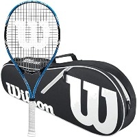 Wilson Tour SlamテニスラケットStrungバンドルwith a Wilsonテニスバッグ