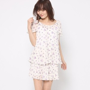 【SALE 80%OFF】ミーア プロデュースド バイ ルーミィーズ MIIA produced by Roomy's OUTLET フラワーセットアップ (オフホワイト)