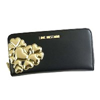 ラブモスキーノ 財布 長財布 LOVE MOSCHINO METALLIC HEART JC5557 00B NERO/ORO KG2 CALF PU/TPU 並行輸入品