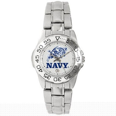 Navy Midshipmen GamedayスポーツLadies ' Watch with aメタルバンド
