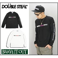 DOUBLE STEAL ダブルスティール Drip Arm LOGO 長袖Tシャツ【DOUBLE STEAL】