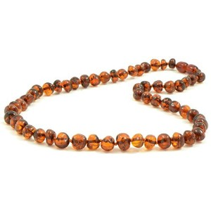 Baltic amberネックレスfor Adults – 17.7 inches – コニャック色 – Baltic Amber land – 手作りからPolished /認定Baltic...