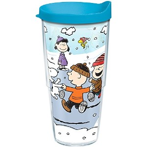 Tervis 1201356 PeanutsクリスマスグループTumbler withターコイズ蓋、ブルー