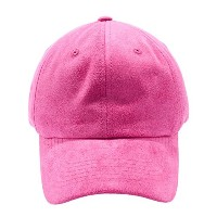 Acorn空白スエードDad Hat–調節可能な野球キャップwith Unstructured低プロファイル カラー: ピンク