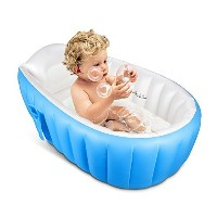 Inflatable Baby Bathtub,Topist Portable Mini Air Swimming Pool Kid Infant Toddler Thick Foldable...