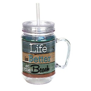 Spoontiques Life is Better at the beach Mason Jar ,マルチ