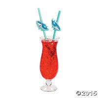 SharkプラスチックBendable Drinking Straws – 12 pc