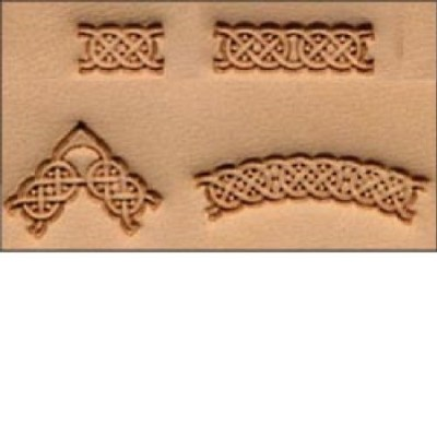 4 Piece Celtic Leather Stamp Set by Tandy Leather