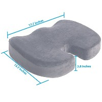 Coccyx Orthopedicメモリーフォームシートクッション–For Back Pain Relief、座骨神経痛とTailbone Pain–品質comfort- Ideal for...