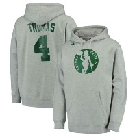 Isaiah Thomas Boston Celtics adidas Name and Number Pullover Hoodieメンズ Heathered Gray アディダス フーディー...