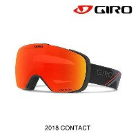 2018 GIRO ジロ ゴーグル GOGGLE CONTACT AF BLACK RED SPORT TECH/VIVID EMBER+VIVID INFRARED