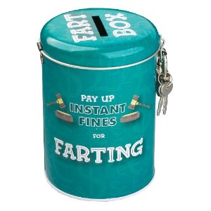 Boxer Gifts Instant Fines Pay Up Tin, Farting by Boxer by Boxer