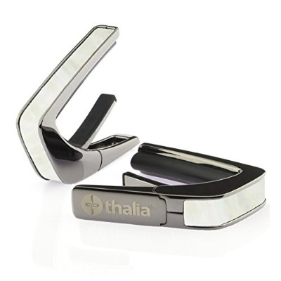 Thalia Capo 200 in Black Chrome Finish with White Mother of Pearl Inlay カポタスト