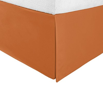 """(King, Pumpkin) - Superior Infinity Luxury Soft 100% Brushed Microfiber Tailored Bed Skirt with 15""""..."""