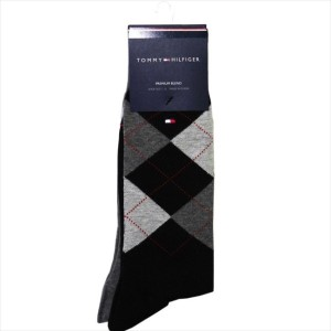 TOMMY HILFIGER ソックス ATA173 2足セット colorG70 トミーヒルフィガー Casual クルー丈 メンズ 靴下 綿混 プレゼント ギフト【送料無料】