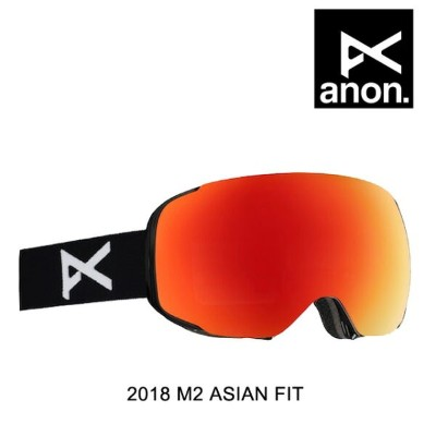2018 BURTON バートン ANON アノン ゴーグル GOGGLE M2 BLACK/RED SOLEX + RED ICE ASIAN FIT