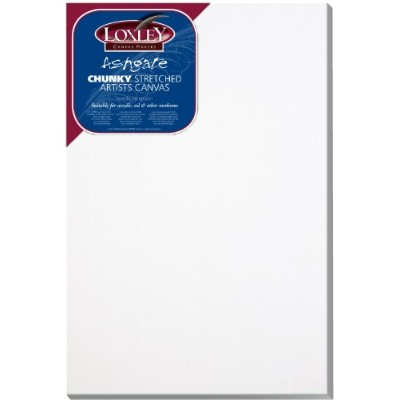 Loxley 30 x 20-inch Deep 36 mm Edge Ashgate Chunky Stretched Artists Canvas, White by Loxley