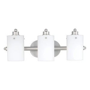 Quoizel AN8540ES Adano 7.5-Inch x 21-Inch 3 Light Bath Fixture, Empire Silver by Quoizel
