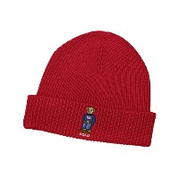 POLO RALPH LAUREN CLASSIC POLO BEAR CUFFED BEANIE(PC0112/625:RED)ポロ ラルフローレン/ニットキャップ/赤