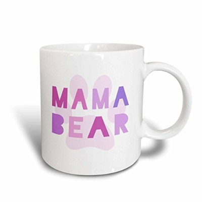 3dローズInspirationzStoreタイポグラフィ–Mama Bear–ピンクテキストwith Paw Print for Motherまたは新しいMom Mommy–...