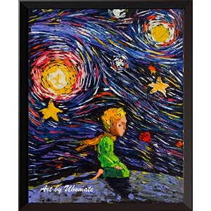 uhomate The Little Prince Fox Le Petit Prince Little Prince Vincent van Gogh starry nightポスターホームキャンバ...