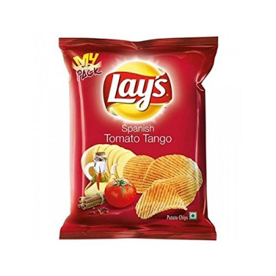 Lay's Potato Chips, Spanish Tomato Tango, 30 grams - India. Pack of 10 - 並行輸入品