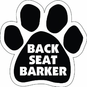 Imagine This Paw Car Magnet, Back Seat Barker, 5-1/2-Inch by 5-1/2-Inch by Imagine This