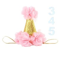 Mini 1st誕生日帽子最初の誕生日ベビーガールズ1誕生日帽子1st Birthday Girl Decorations ピンク party hat-01
