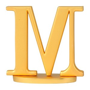 Thirstystone Old Hollywood Monogram Letter M Wine Stopper, Matte Gold Finish [並行輸入品]