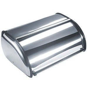 Bekith Brushed Stainless Steel Roll Top Bread Box for kitchen, bread bin, bread storage and bread...