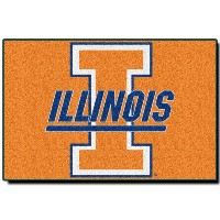 Northwest Illinois Fightin Illini Tufted 20 x 30ラグ