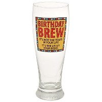 """Our Name Is Mud """"誕生日Brew """" Pilsnerガラス、16オンス"""