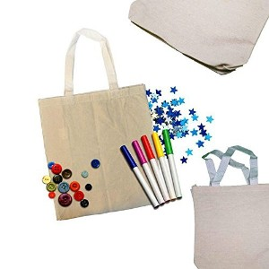AdoroxキャンバストートバッグSacks Arts & Crafts Reusable Grocery Bags Party Favors装飾