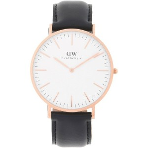 メンズ DANIEL WELLINGTON 0107DW CLASSIC SHEFFIELD WATCH ROSE GOLD 40MM 腕時計 ホワイト