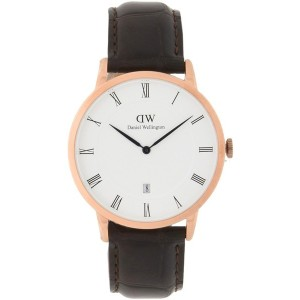 メンズ DANIEL WELLINGTON 1102DW, DAPPER YORK, ROSE GOLD 腕時計 ホワイト