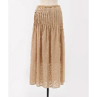 mame/マメ  Flower Printed Flare Skirt(MM18SS-SK007) BEIGE 【三越・伊勢丹/公式】 レディースウエア~~スカート~~ひざ丈スカート