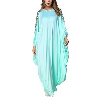 Zhhlinyuan 美しくて良い品質 Plus Size Muslims Fashion Dubai Abaya Middle East Long Gown Robe Dress Islamic...