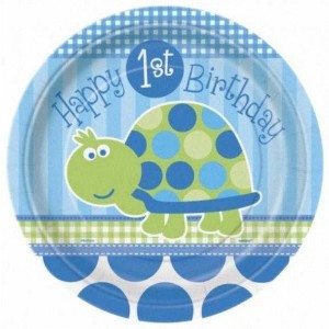 1st Birthday Turtle Party Plates 8pk